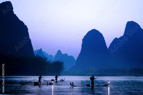 Canvas Prints Guilin Cormorant fishing, Guilin, China
