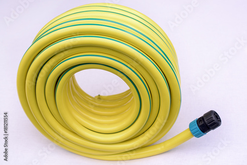 Vászonkép Yellow hose pipe
