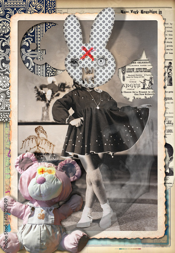 Foto op Aluminium Imagination Scrapbooks,collage,patchworks bizzarri,surreali,misteriosi ed esoterici