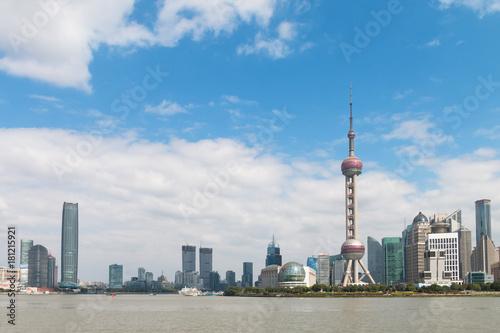 Obraz na dibondzie (fotoboard) Shanghai Pudong krajobraz