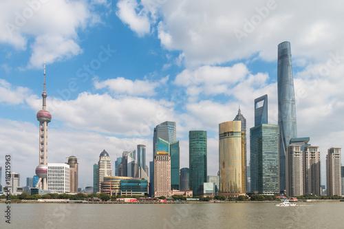 Plakat Shanghai Pudong krajobraz