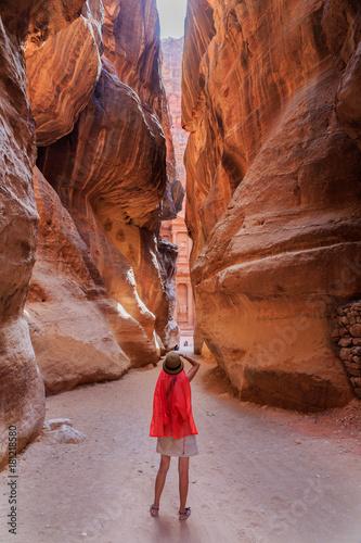 Obraz na plátně Road to Petra