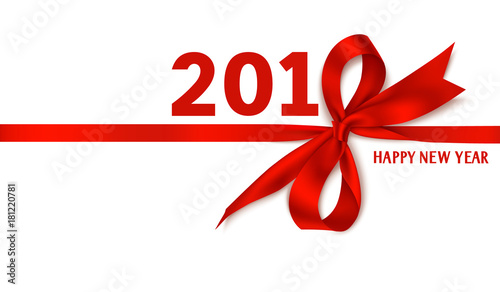 Happy new year 2018 template design vector background for Garden design winter 2018