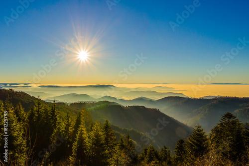 Traumhafte Aussicht auf Landschaft im Schwarzwald / Schwarzwaldhochstraße