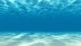 Tranquil underwater scene 3D render