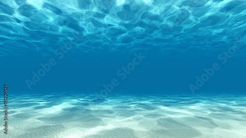 Fototapeta Tranquil underwater scene 3D render