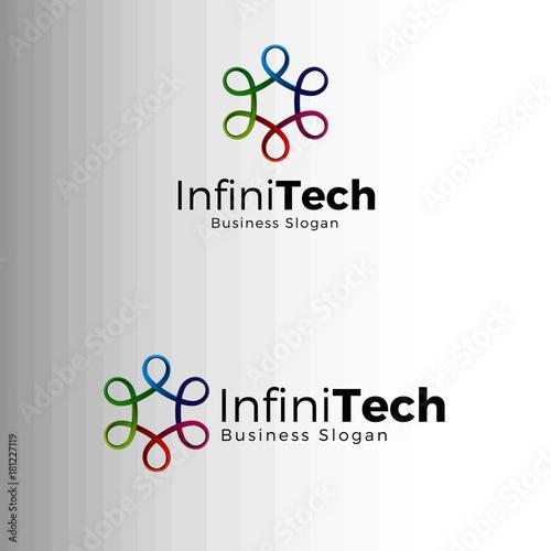 Fotografie, Obraz  Infinity Technology Logo Template