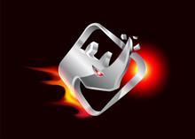 Rhino - 3D Metal Logo.