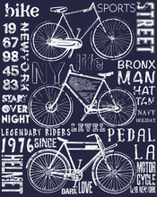 Bike Poster Tee Graphic Design