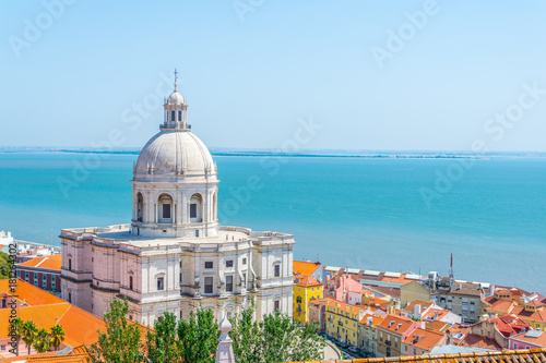 Aerial view of the national pantheon in Lisbon, Portugal Canvas Print