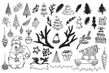 Handdrawn Christmas Elements. ...