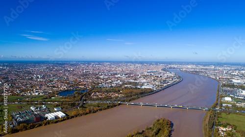 Obraz na płótnie Widok z lotu ptaka bordowie w Gironde