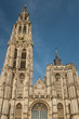 Tower of the Cathedral of Our Lady (Onze-Lieve-Vrouwekathedraal) in Antwerp, Belgium