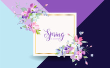 Floral Spring Graphic Design W...