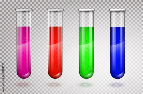 Illustration of scientific glassware - test tubes Canvas Print