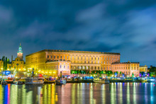Night View Of Gamla Stan And T...
