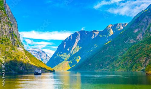 Fotografie, Obraz  Aurlandsfjord - unesco enlisted natural heritage site - in Norway