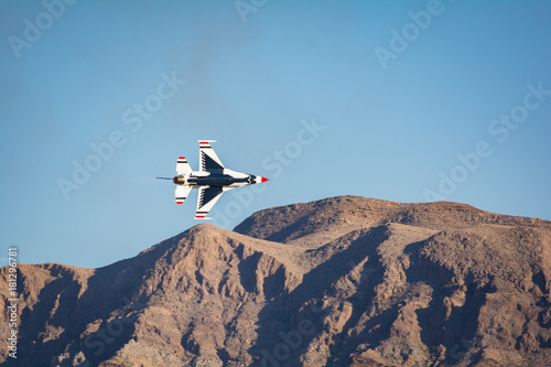 United States Air Force Thunderbirds Flying Nellis Air Force Base Air Show Wallpaper Mural