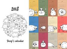 Funny Sheeps Family, Calendar ...