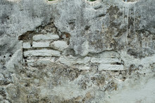 Old White Wall Decay