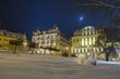 Winter and snow in spa resort Marianske Lazne (Marienbad) - Czech Republic