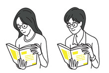 Teenagers Reading Book