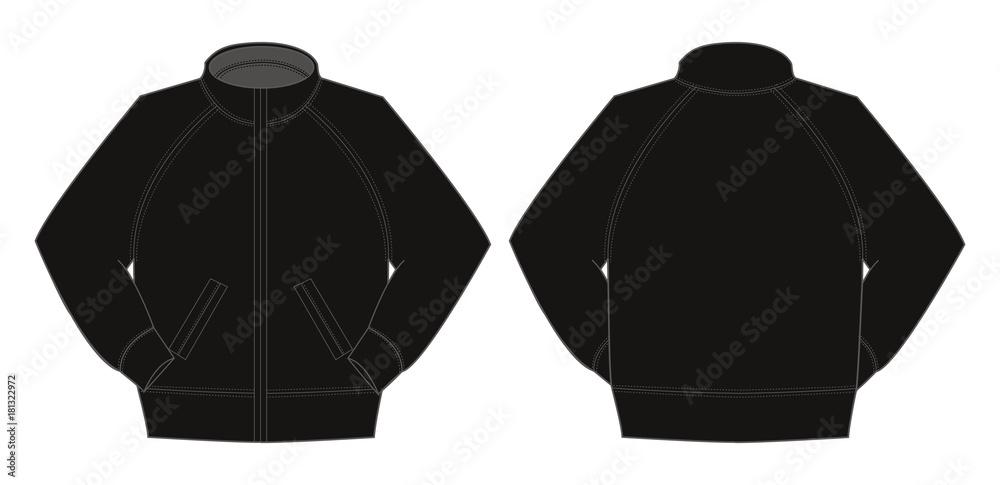 Fototapeta Illustration of jumper / training wear (black)
