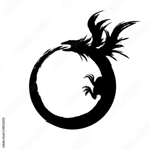 Ouroboros Sign Alchemical Magical Symbol Of Reincarnation And
