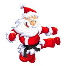 Santa Claus Jumping Kick In Ma...