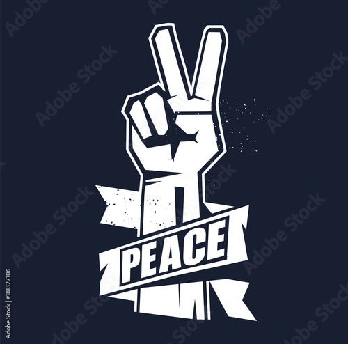 Foto  Hand gesture peace sign