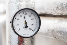 Thermometer In Pipeline System Industry Focus Close Up