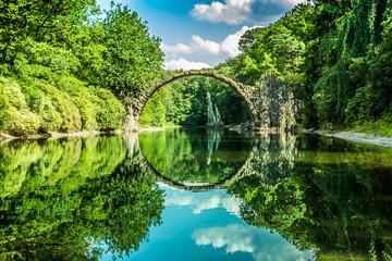 Panel Szklany Rzeki i Jeziora A beautiful old bridge
