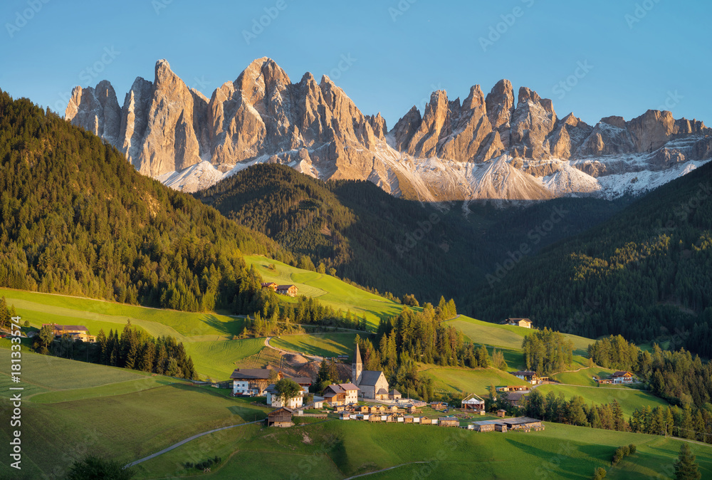 Fototapety, obrazy: Mountain valley in the Italy alps. Beautiful natural sunset in the summer time
