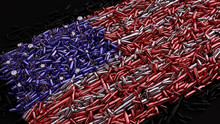 USA Flag Formed Out Of Bullets