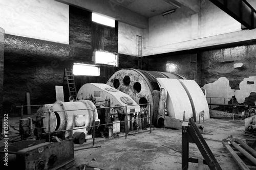 Fotografía  Maquinaria antiguo taller