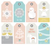 Set Of 8 Holidays Gift Tags