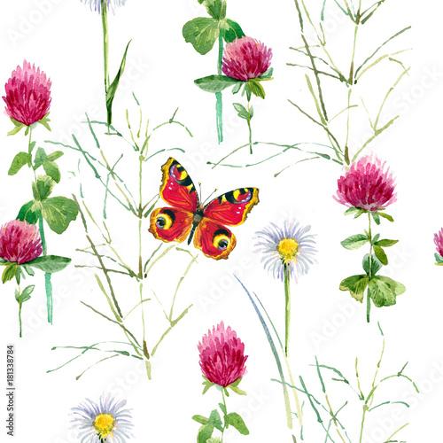 letnie kwiaty wzór