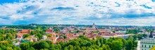 Aerial View Of The Lithuanian Capital Vilnius From The Gediminas Castle.