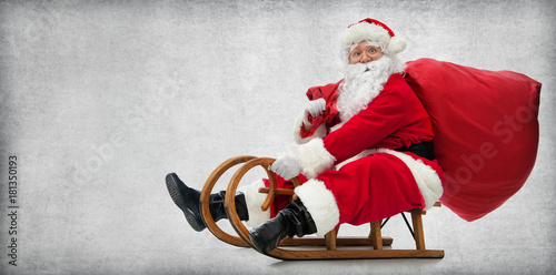 Photo  Santa Claus on his sledge