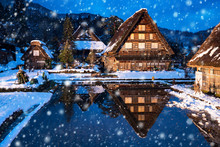 Dorf Shirakawago In Japan Im Winter