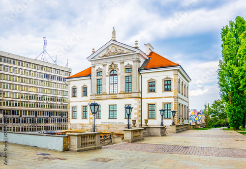 Obraz Frederic Chopin Museum at the Ostrogski Palace building in Warsaw, Poland - fototapety do salonu