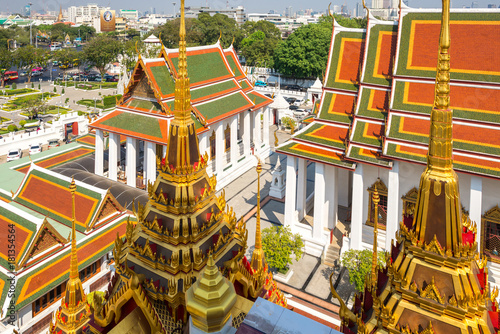 The Buddhist temple Wat Ratchanatdaram, meaning Temple of