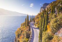 Gardesana Occidentale Scenic Route, Garda Lake, Brescia Province, Lombardy, Italy