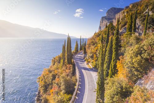 Gardesana Occidentale scenic route, Garda Lake, Brescia province, Lombardy, Ital Canvas Print