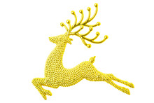 Gold Reindeer Glitter Christma...