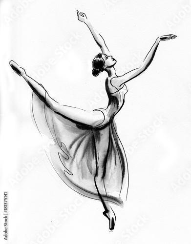 Photo  Dancing ballerina
