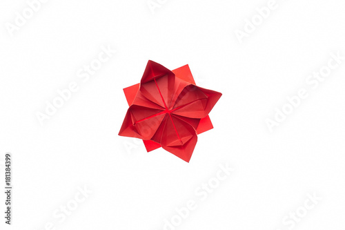 Lotus Flower Origami On White Beautiful And Simple Model Folded