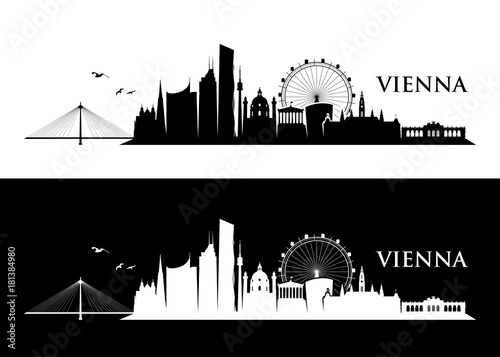 fototapeta na lodówkę Vienna skyline
