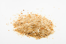 Pile Of Breadcrumbs Isolated On White Background