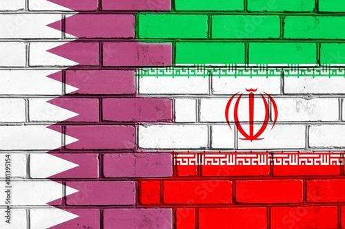 Fotografija  Brick wall. Ver. 2. Iran vs Qatar